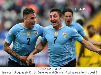 CA_00685_2015_1st_turn_Jamaica_Uruguay_JM_Gimenez_Christian_Rodriguez_after_his_goal_51_E_Cavani_1_en.jpg