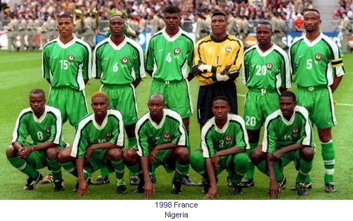 Image result for nigeria squad against spain 98